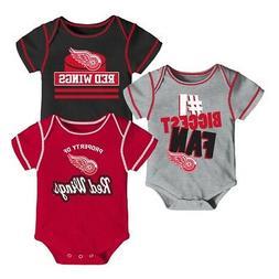 "Detroit Red Wings NHL Infant Red/Black/Grey ""#1 Biggest Fan"""