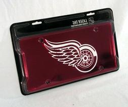 Detroit Red Wings NHL Laser Cut License Plate Cover