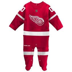 Detroit Red Wings NHL Newborn Red Long Sleeve Jersey Style C