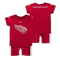 Detroit Red Wings NHL Reebok Infant Red Fan Jersey Romper