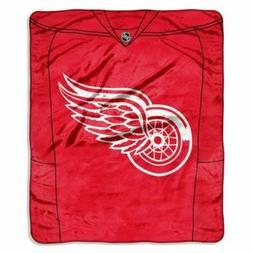 DETROIT RED WINGS NHL NORTHWEST ROYAL PLUSH RASCHEL THROW JE