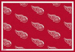 Detroit Red Wings NHL Team Repeat Area Rug Milliken