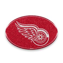 Detroit Red Wings Oval Bling Auto Emblem