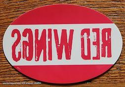 Detroit Red Wings Oval Car Magnet Made In The USA Hockey NHL