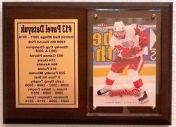 Detroit Red Wings Pavel Datsyuk Hockey Card Plaque