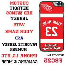 Detroit Red Wings Personalized Hockey Jersey Phone Case Cove