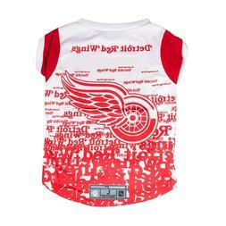 Detroit Red Wings NHL Pet Performance T-Shirt Medium Dog NWT