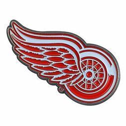 Detroit Red Wings Premium Solid Metal COLOR Auto Emblem Rais