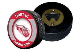 Detroit Red Wings Retro Series Hockey Puck Bottle Opener