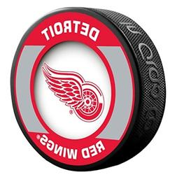 Detroit Red Wings Retro Style Souvenir Hockey Puck By Sher-W
