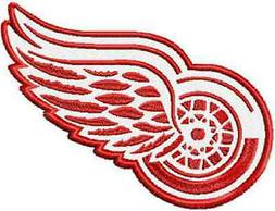 DETROIT RED WINGS SET OF 2 BATH HAND TOWELS EMBROIDERED BY L