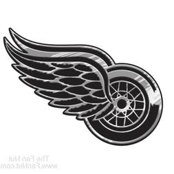 Detroit Red Wings Silver Chrome Auto Emblem  NHL Car Truck D