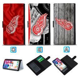 Detroit Red Wings Sliding Flip Case For iPhone 6 6s 7 8 Plus