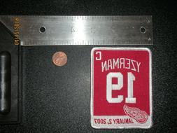 """Detroit Red Wings Steve Yzerman 19 Retirement 4"""" Patch Hocke"""