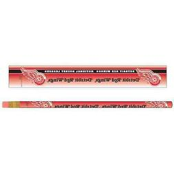DETROIT RED WINGS TEAM LOGO 6-PACK PENCILS BRAND NEW WINCRAF