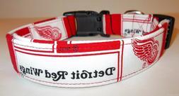 Detroit Red Wings Terri's Dog Collar custom made adjustable