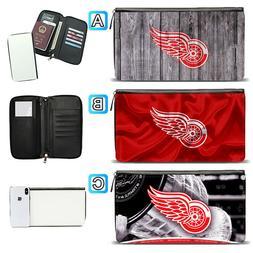 Detroit Red Wings Travel Wallet Passport Holder Organizer Le