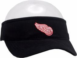 Detroit Red Wings Visor Black Adjustable Strap Logo Block 11