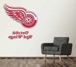 Detroit Red Wings Wall Decal Logo Hockey NHL Sticker Vinyl L