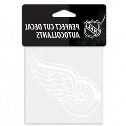 """Detroit Red Wings White 4""""x4"""" Car Decal  NHL Auto Sticker Em"""