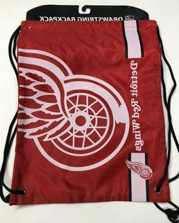 Detroit Redwings Drawstring Backpack  NHL Big Logo Backsack