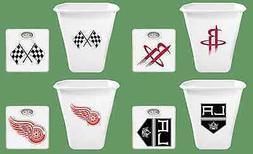 Sports Team Logo Bathroom Dial Scale  Plastic Trash Can 2 PC