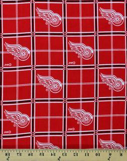 Flannel Detroit Red Wings NHL Hockey Sports Team Flannel Fab