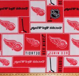 Fleece Detroit Red Wings NHL Hockey Sports Fleece Fabric Pri