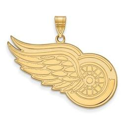 14k Yellow Gold NHL LogoArt Detroit Red Wings XL Pendant 4Y0