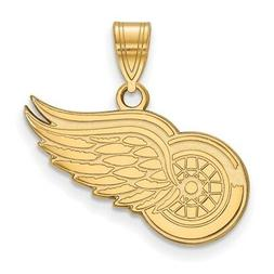 Gold Plated Sterling Silver NHL LogoArt Detroit Red Wings Me