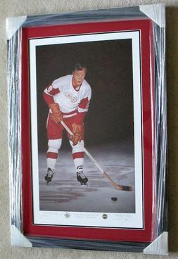 Gordie Howe Detroit Red Wings Autographed BIG 22x35 Lithogra
