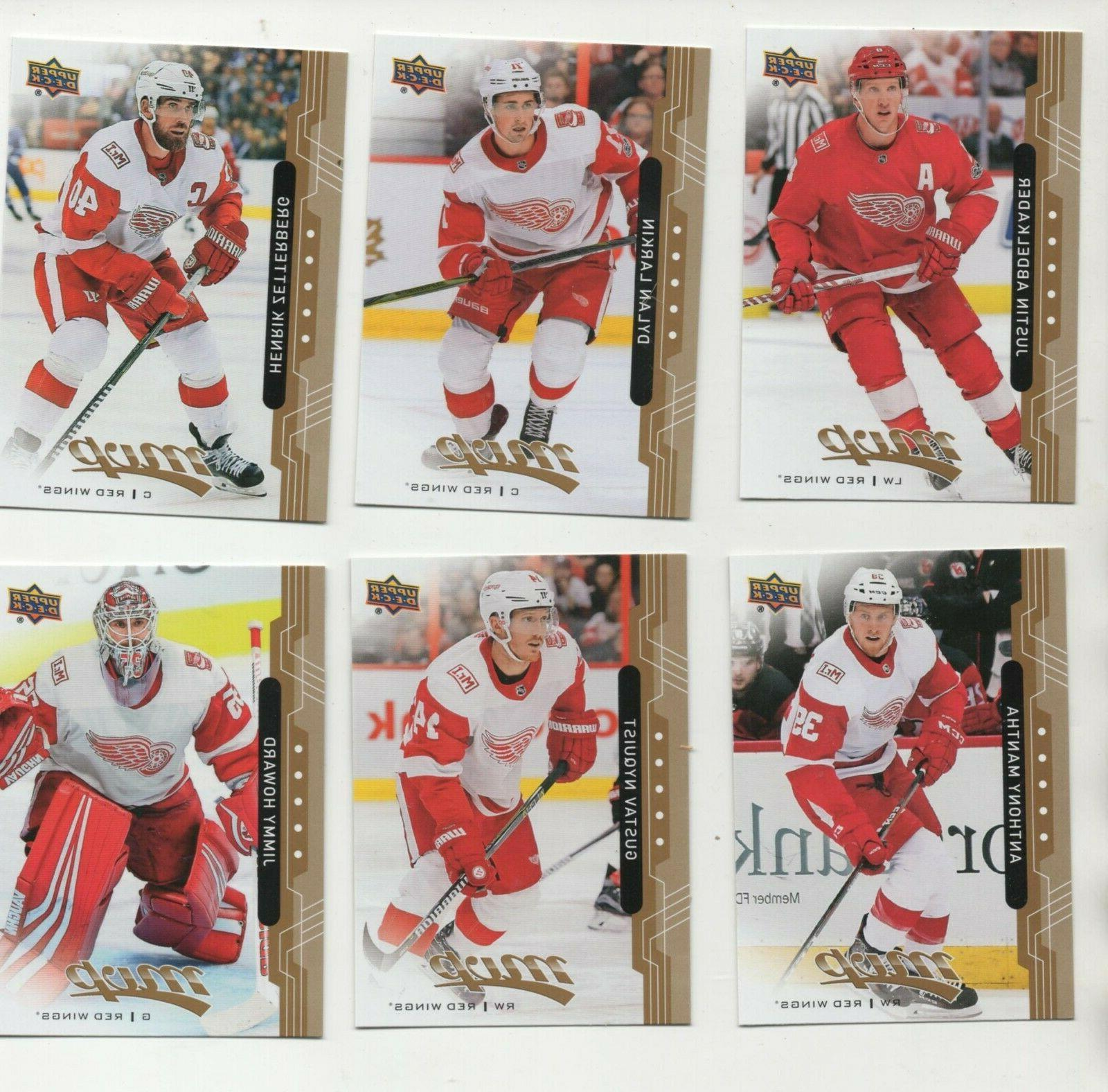 100 different detroit red wings cards w