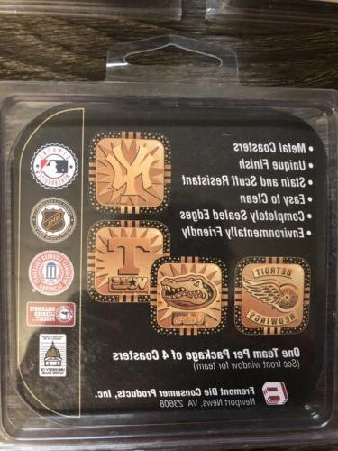 12 DETROIT NHL Gold Coasters