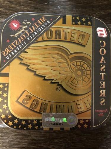 12 NHL Metal Coasters NEW