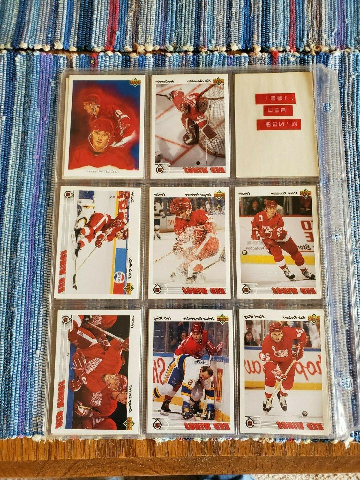 1991 92 upper deck red wings hockey