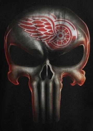 2 detroit red wings punisher skull waterproof