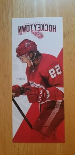 2019/2020 Detroit Red Wings  Schedule  Double Sided Card