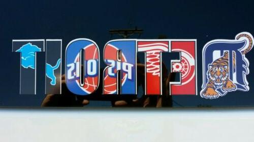 detroit pro team logos vinyl decal tigers