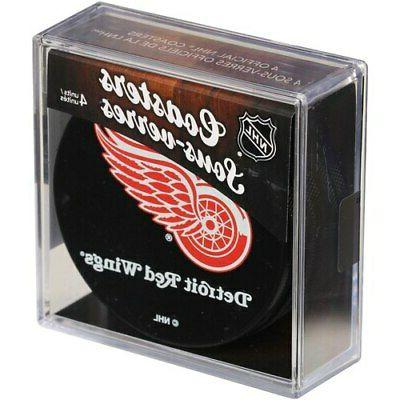 detroit red wings 4 pack puck coaster