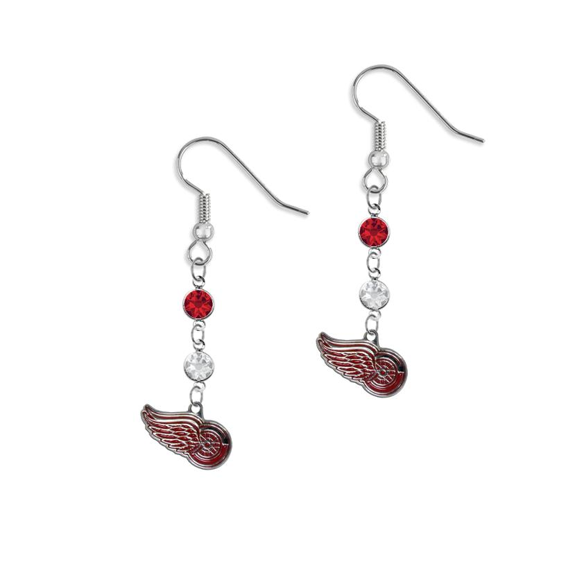 detroit red wings 925 sterling silver double