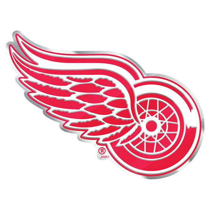 Detroit Red Wings Auto or Hard Surface Emblem Decal NHL Lice