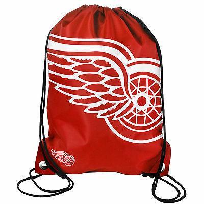 detroit red wings back pack sack drawstring