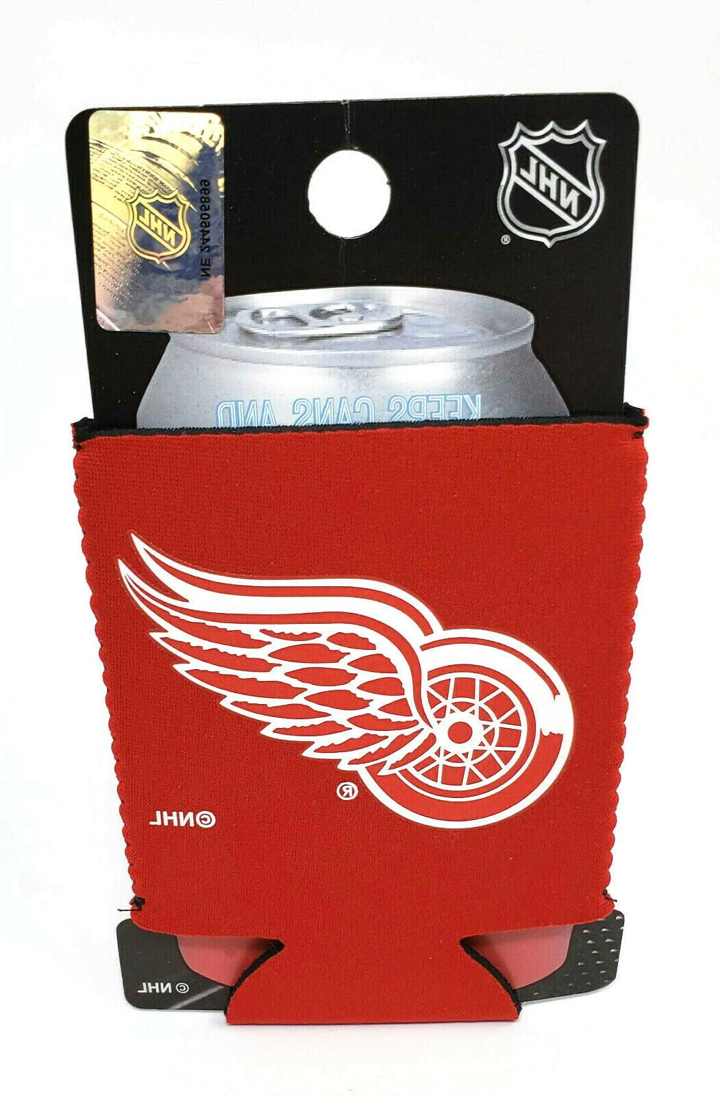 detroit red wings can cooler collapsible insulated
