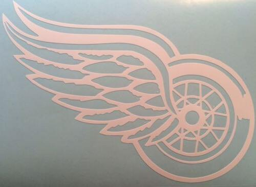 detroit red wings decal 5 x7 white