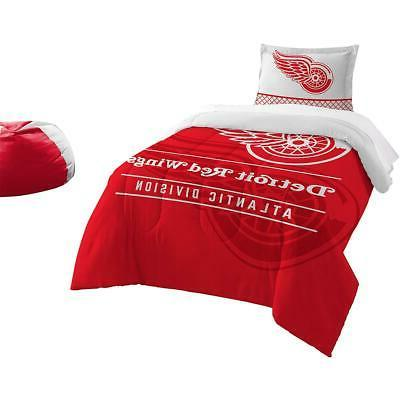 detroit red wings draft twin comforter