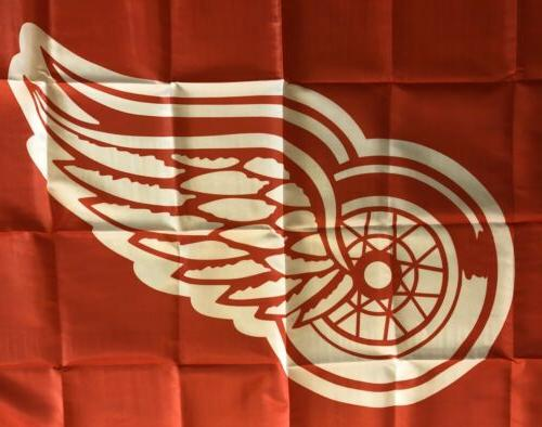 Detroit Red Wings NHL Flag Banner Man Cave SHIPPING