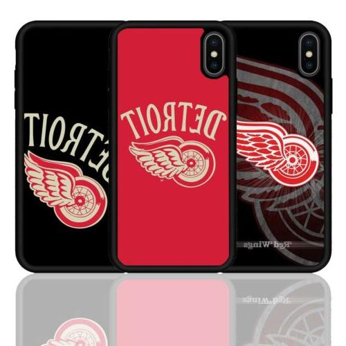 detroit red wings ice hockey silicone case