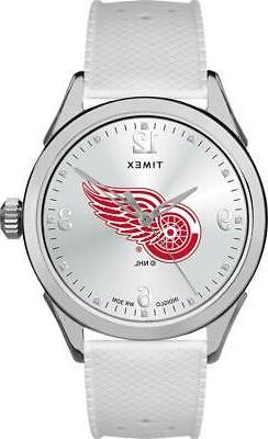 Detroit Red Wings Ladies Silcone Athena Timex Watch