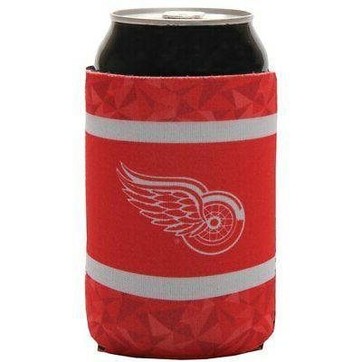 detroit red wings neoprene can cooler