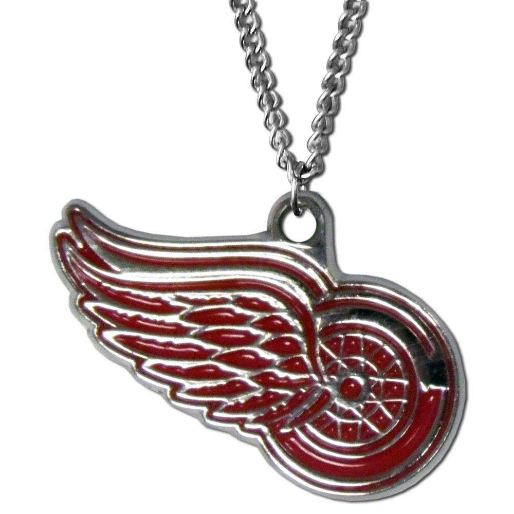 Detroit Red Wings NHL Chain Necklace & Chrome Pendant by Sis